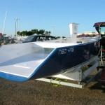 Vendredi 2 Juillet 2004 à 19h15 : Arrivée du Premier Neo495 à la mise à l'eau à Port Camargue